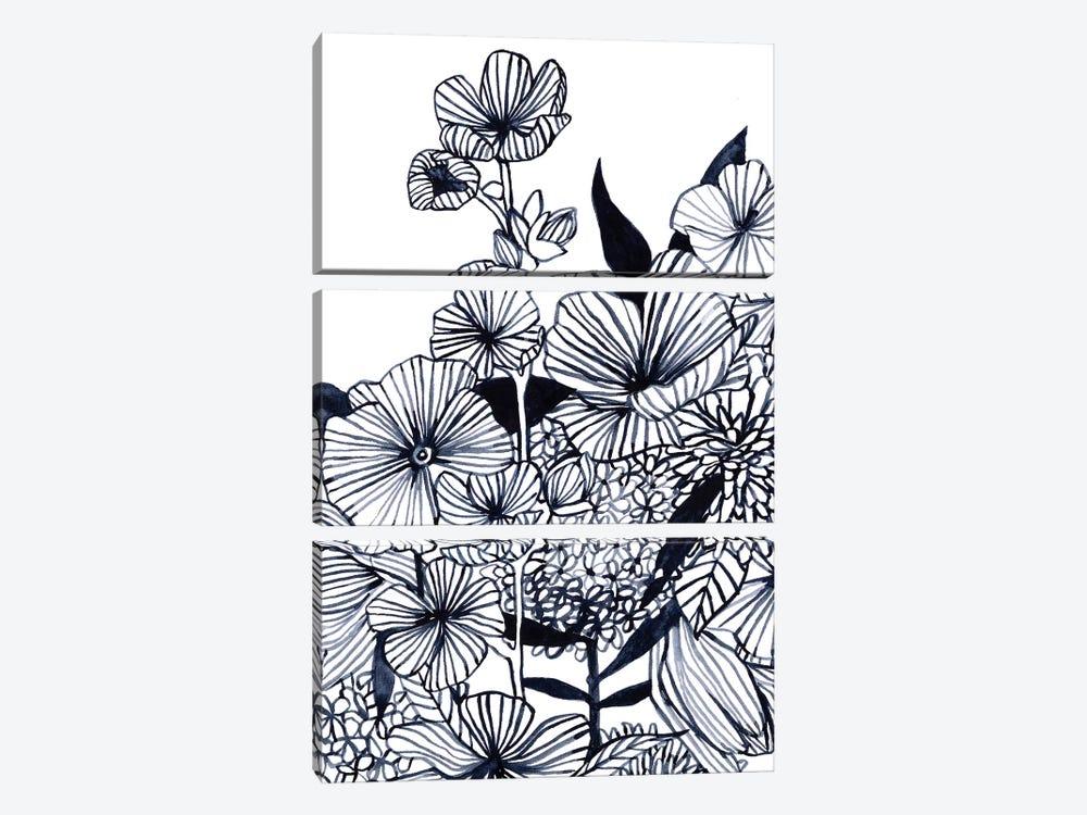 Wildflower Tangle III by Emma Scarvey 3-piece Canvas Print