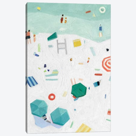 Beach Vista I Canvas Print #EMS269} by Emma Scarvey Canvas Wall Art