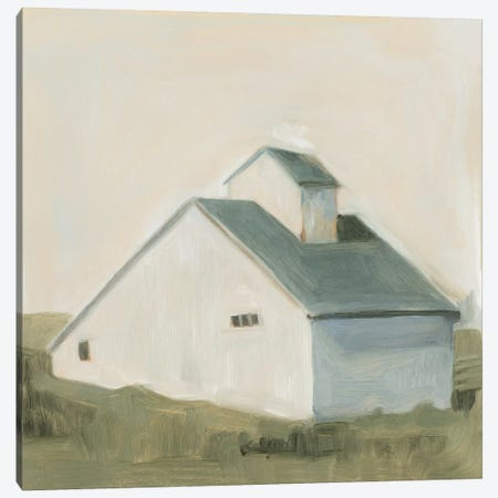 Serene Barn I Canvas Print #EMS26} by Emma Scarvey Canvas Art