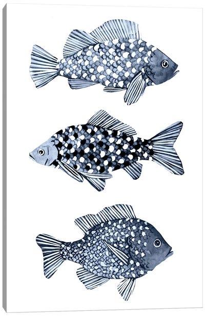 Blue Fish I Canvas Art Print