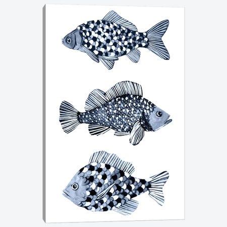 Blue Fish II Canvas Print #EMS272} by Emma Scarvey Art Print