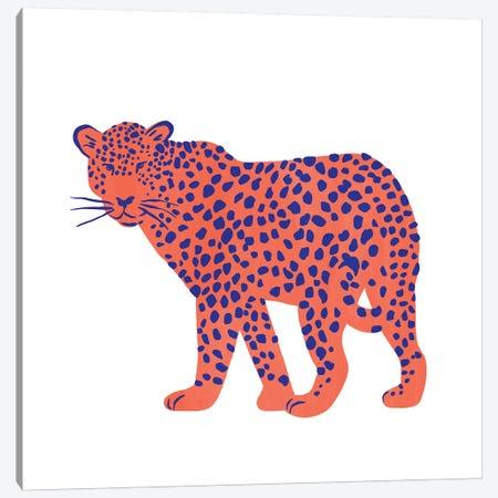 Bright Leopard I Canvas Print #EMS276} by Emma Scarvey Canvas Wall Art