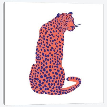 Bright Leopard II Canvas Print #EMS277} by Emma Scarvey Canvas Wall Art