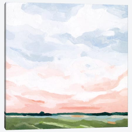 Pink Morning Horizon I Canvas Print #EMS288} by Emma Scarvey Canvas Wall Art
