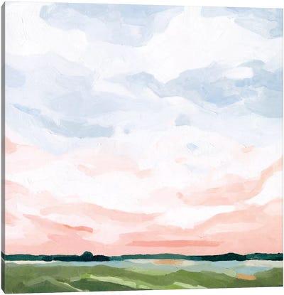 Pink Morning Horizon I Canvas Art Print