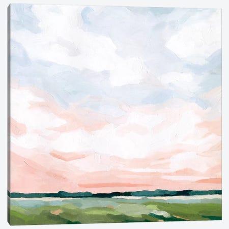 Pink Morning Horizon II Canvas Print #EMS289} by Emma Scarvey Canvas Artwork