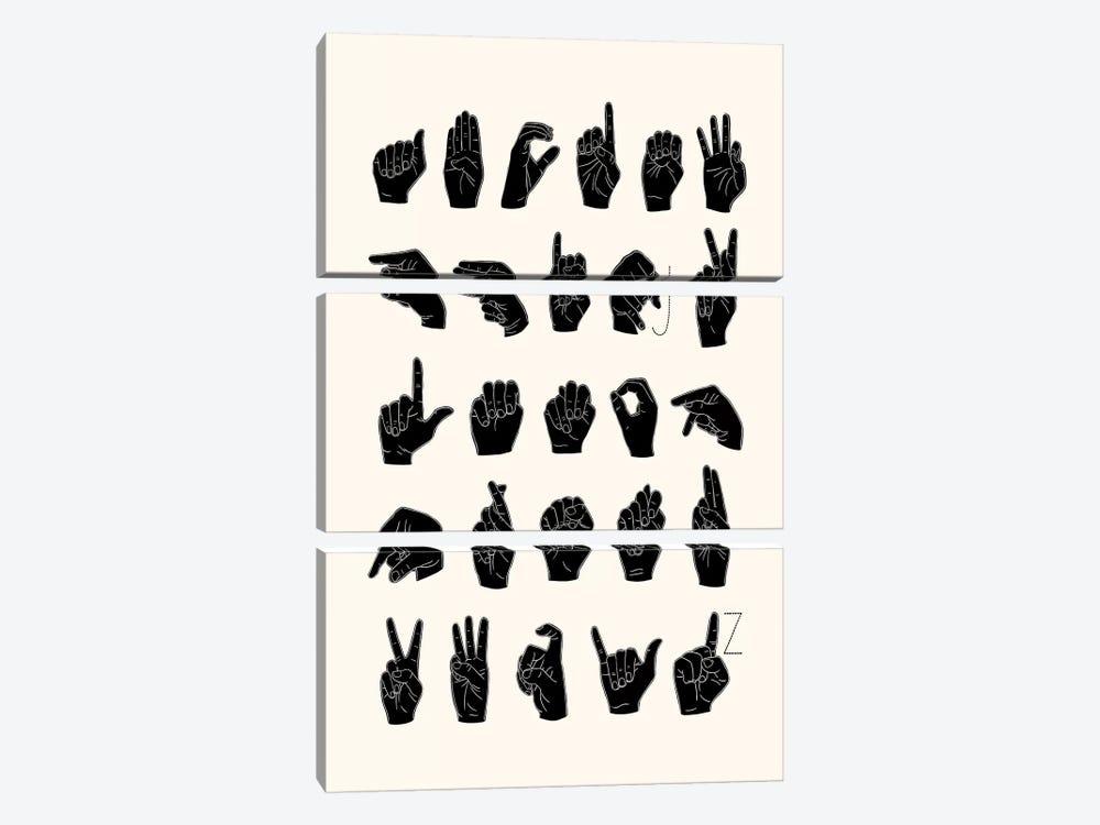 Sign Language I by Emma Scarvey 3-piece Canvas Wall Art