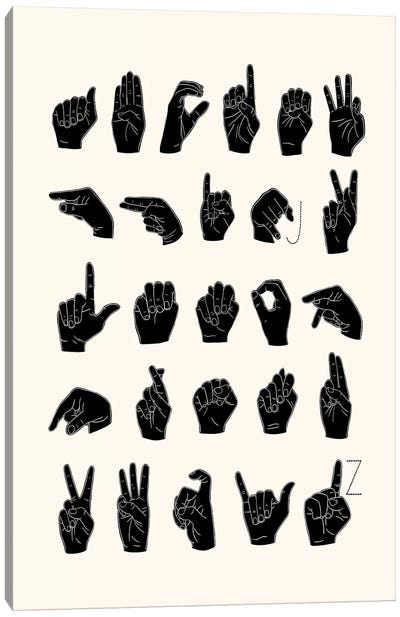 Sign Language I Canvas Art Print