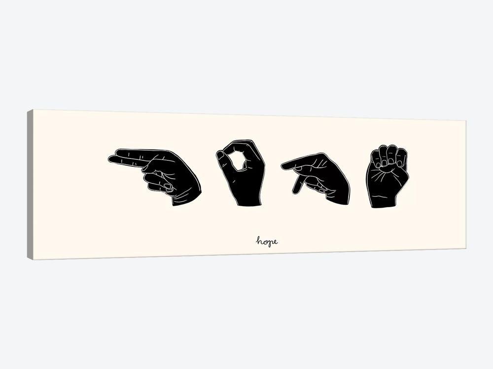 Sign Language II by Emma Scarvey 1-piece Canvas Print