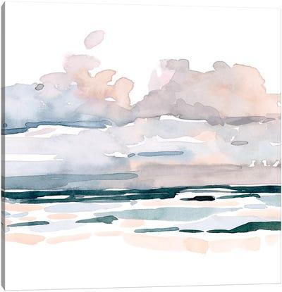 Soft Coastal Abstract II Canvas Art Print