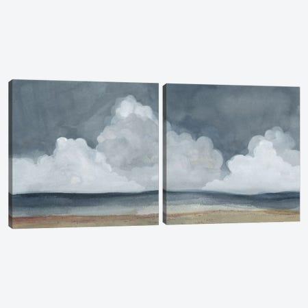 Cloud Landscape Diptych Canvas Print Set #EMS2HSET001} by Emma Scarvey Canvas Art Print