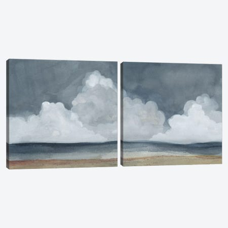 Cloud Landscape Diptych Canvas Print Set #EMS2HSET001} by Emma Scarvey Canvas Art Print