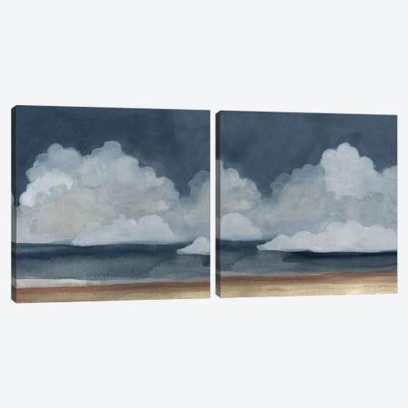 Cloud Landscape Diptych Canvas Print Set #EMS2HSET002} by Emma Scarvey Art Print