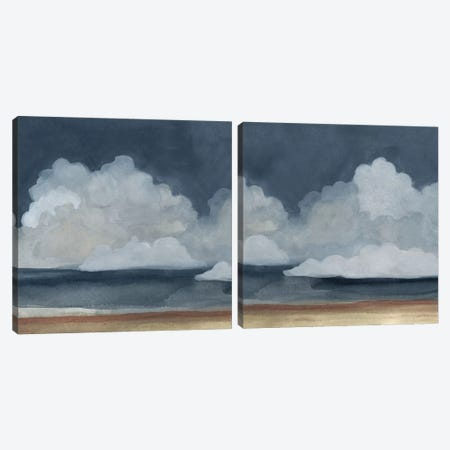Cloud Landscape Diptych Canvas Print Set #EMS2HSET002} by Emma Scarvey Art Print