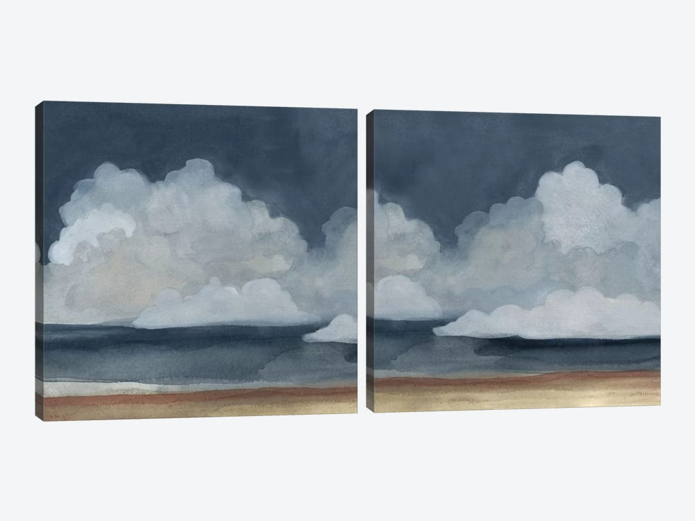 Cloud Landscape Diptych by Emma Scarvey 2-piece Canvas Print