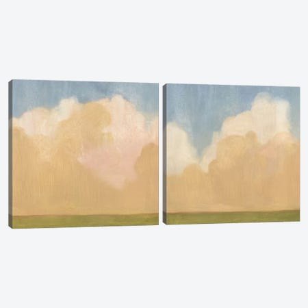Evening Plane Diptych Canvas Print Set #EMS2HSET003} by Emma Scarvey Canvas Art Print