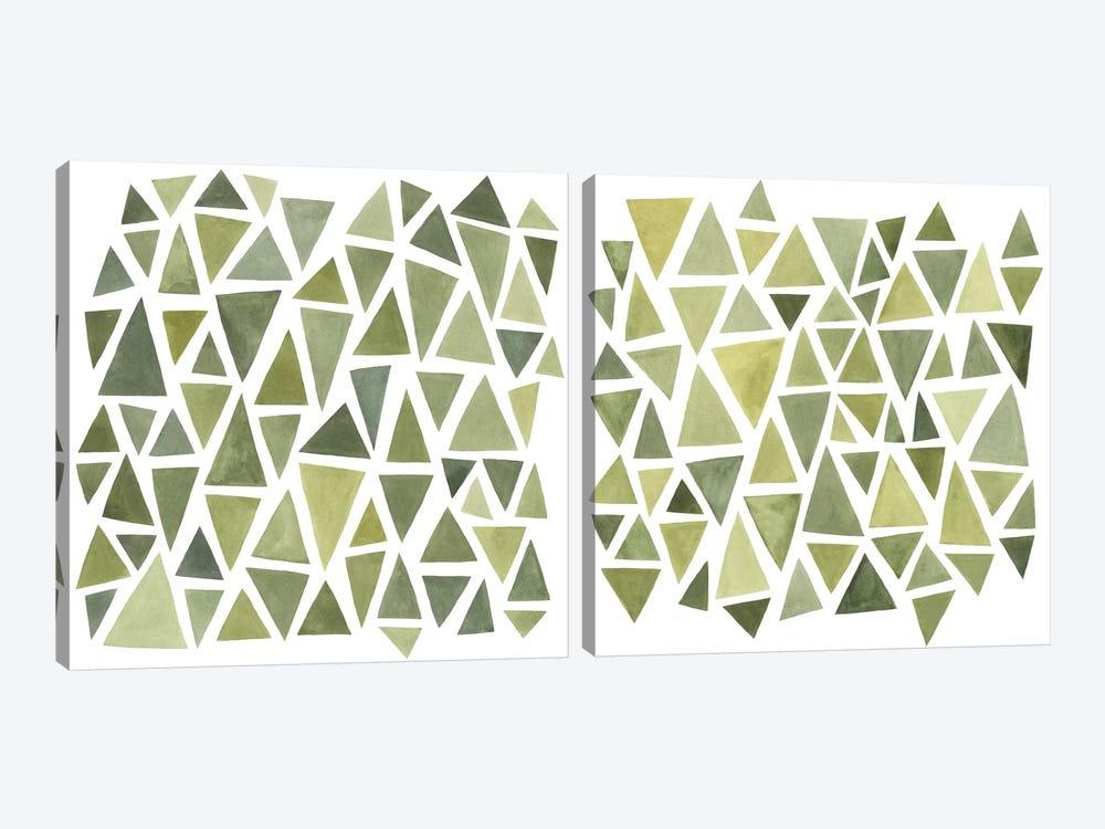 Celadon Geometry Diptych by Emma Scarvey 2-piece Art Print