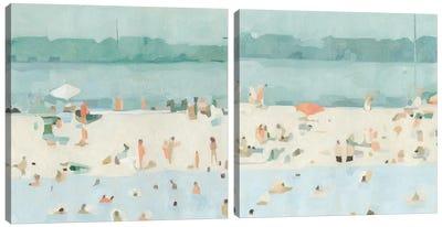Sea Glass Sandbar Diptych Canvas Art Print