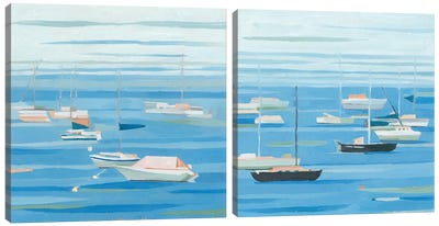 Summer Regatta Diptych Canvas Art Print