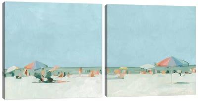 Summer Palette Diptych Canvas Art Print