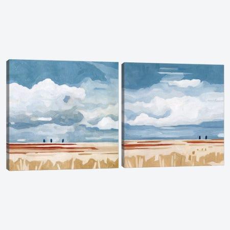 Prairie Landscape Diptych Canvas Print Set #EMS2HSET013} by Emma Scarvey Canvas Wall Art