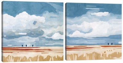 Prairie Landscape Diptych Canvas Art Print