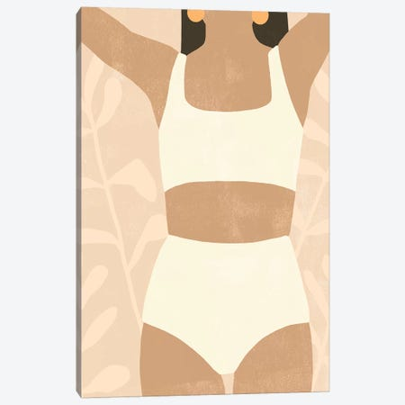 Sunbathers I Canvas Print #EMS301} by Emma Scarvey Art Print