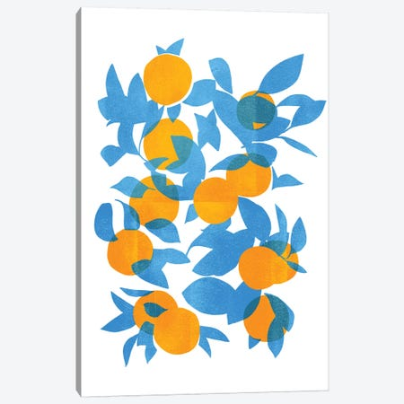 Bright Tangerines I Canvas Print #EMS309} by Emma Scarvey Canvas Art Print