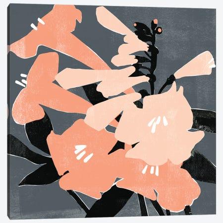 Mod Lilies I Canvas Print #EMS325} by Emma Scarvey Canvas Wall Art