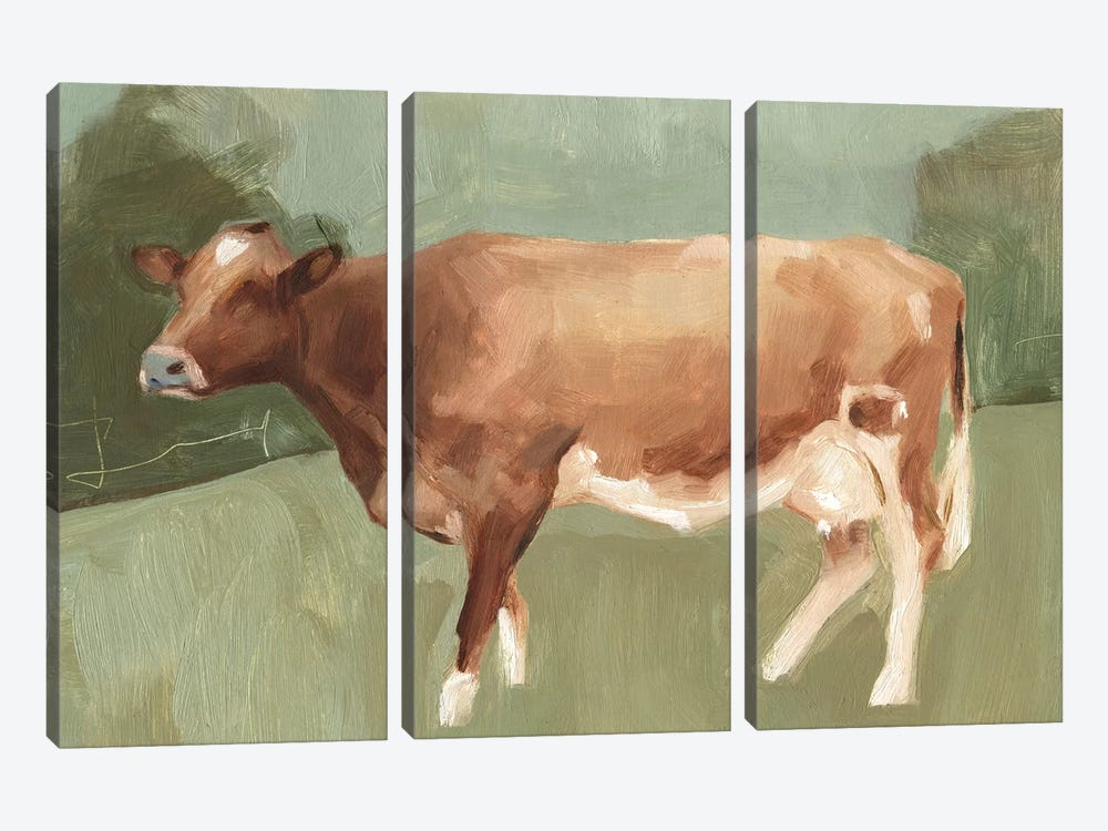 Bovine Field I by Emma Scarvey 3-piece Canvas Art Print