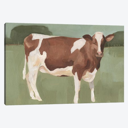 Bovine Field II Canvas Print #EMS44} by Emma Scarvey Canvas Artwork