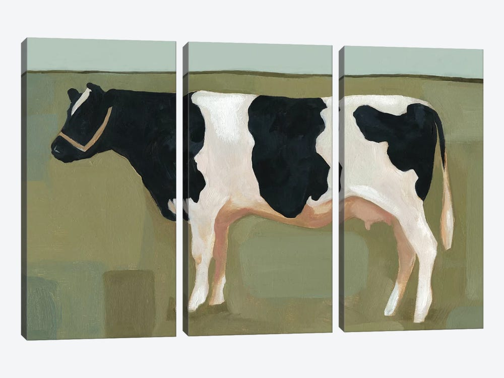 Bovine Portrait II by Emma Scarvey 3-piece Canvas Wall Art