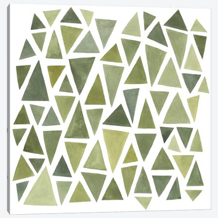 Celadon Geometry I Canvas Print #EMS47} by Emma Scarvey Canvas Art