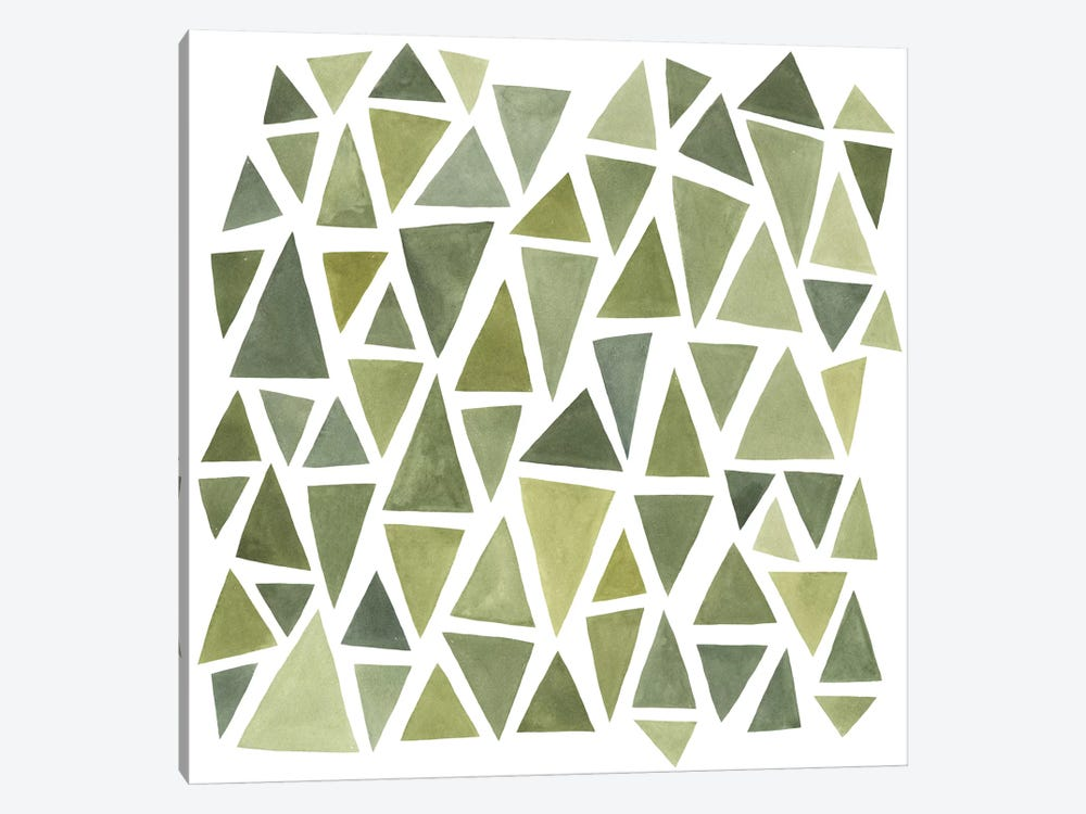 Celadon Geometry I by Emma Scarvey 1-piece Canvas Art Print