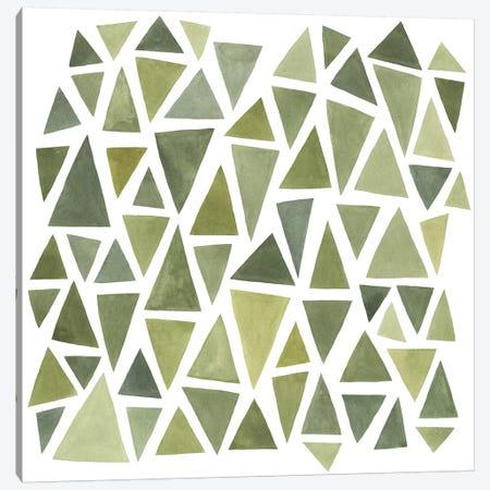 Celadon Geometry I Canvas Print #EMS47} by Emma Scarvey Canvas Art
