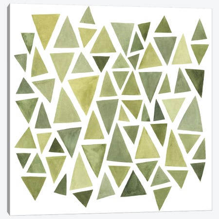 Celadon Geometry II Canvas Print #EMS48} by Emma Scarvey Canvas Art Print