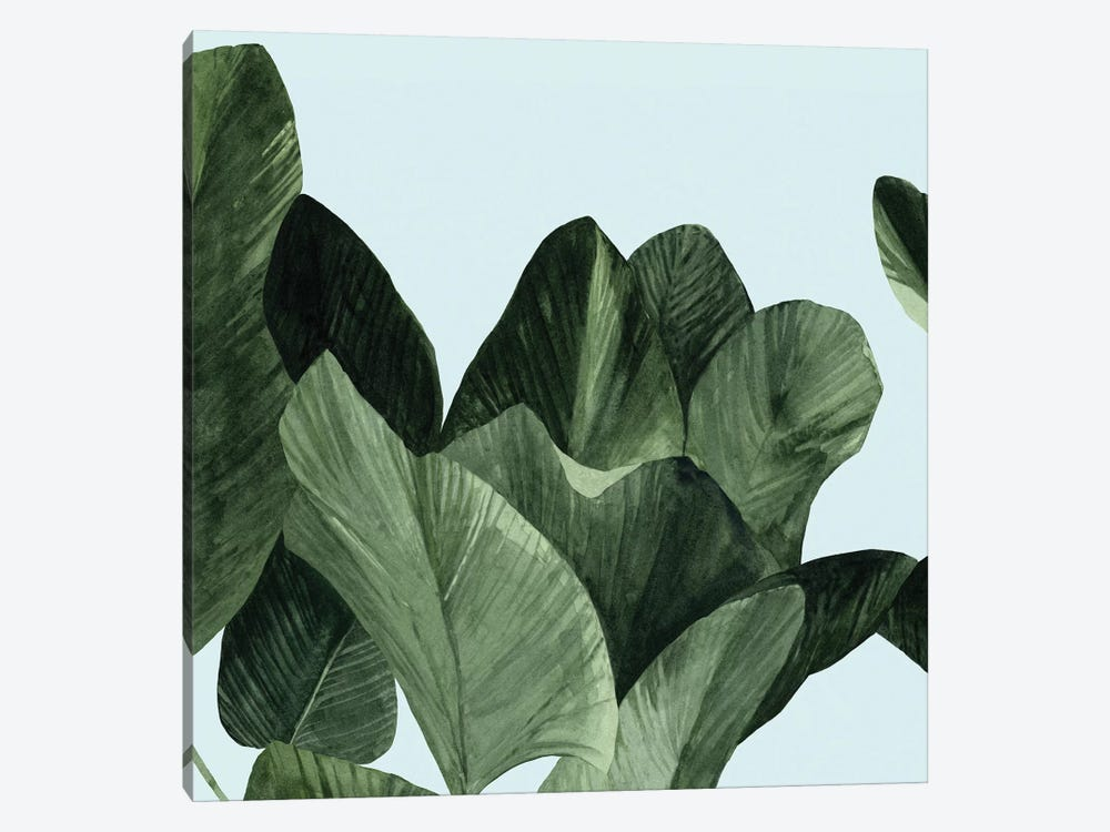 Celadon Palms I by Emma Scarvey 1-piece Canvas Art Print