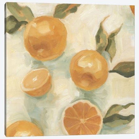 Citrus Study In Oil IV 3-Piece Canvas #EMS4} by Emma Scarvey Art Print
