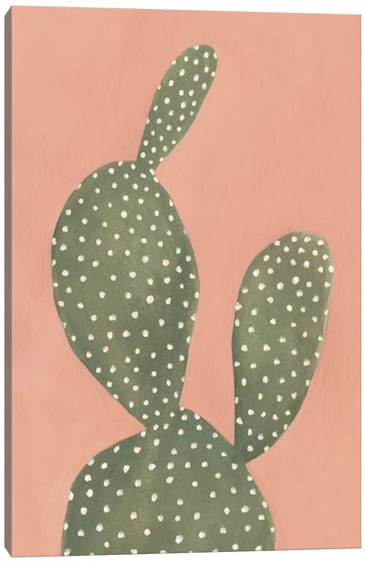 Coral Cacti I Canvas Art Print
