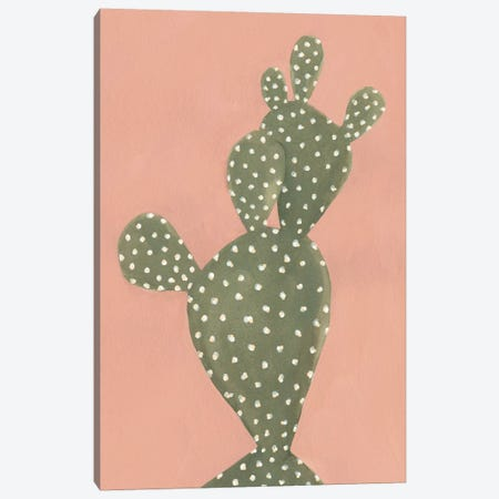 Coral Cacti II Canvas Print #EMS52} by Emma Scarvey Canvas Art
