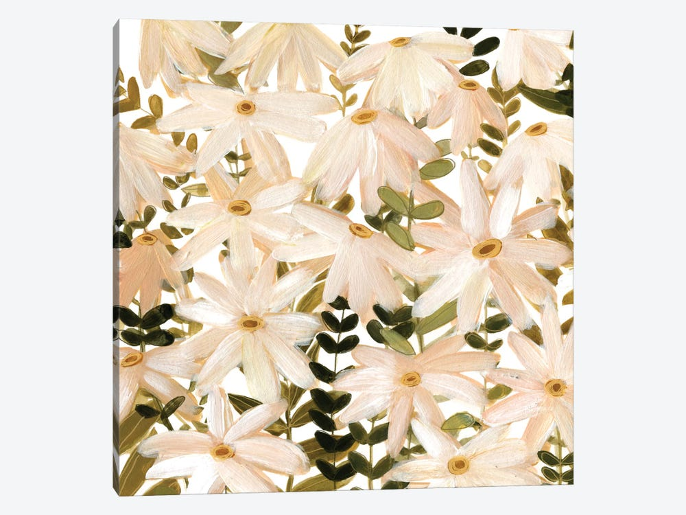 Daisy Field II by Emma Scarvey 1-piece Canvas Art Print