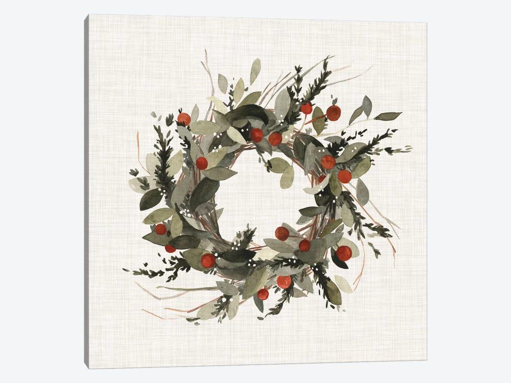 Farmhouse Wreath I by Emma Scarvey 1-piece Canvas Artwork