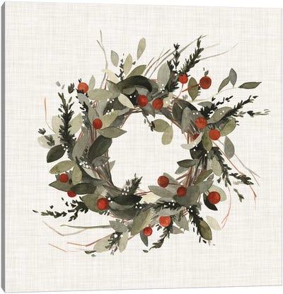Farmhouse Wreath I Canvas Art Print