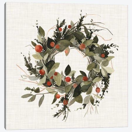 Farmhouse Wreath II} by Emma Scarvey Canvas Wall Art