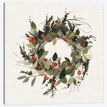 Farmhouse Wreath II Canvas Print #EMS58} by Emma Scarvey Canvas Wall Art