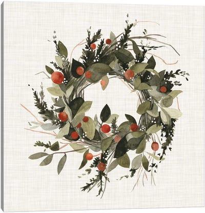 Farmhouse Wreath II Canvas Art Print