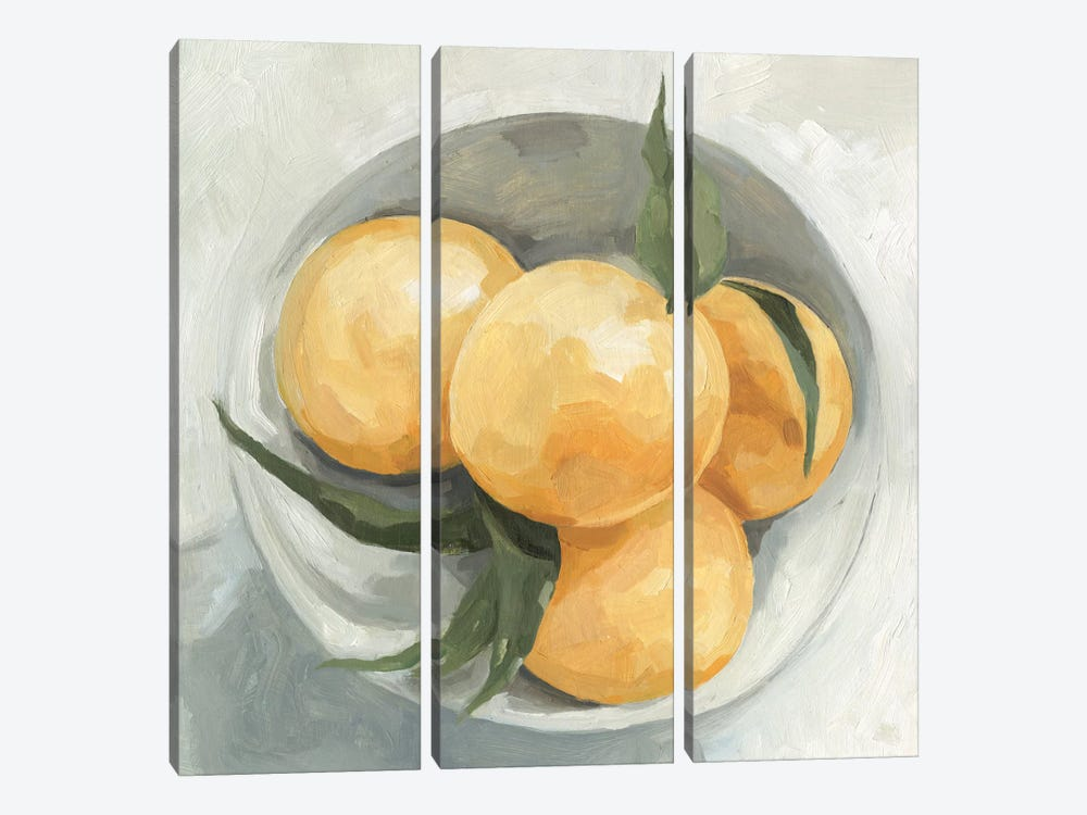 Fruit Bowl I by Emma Scarvey 3-piece Canvas Wall Art