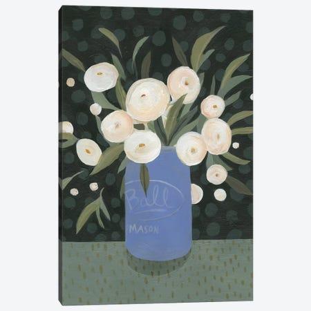 Mason Jar Bouquet I Canvas Print #EMS63} by Emma Scarvey Canvas Art Print