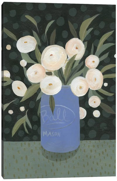 Mason Jar Bouquet I Canvas Art Print