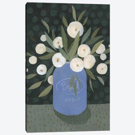 Mason Jar Bouquet II Canvas Print #EMS64} by Emma Scarvey Canvas Wall Art